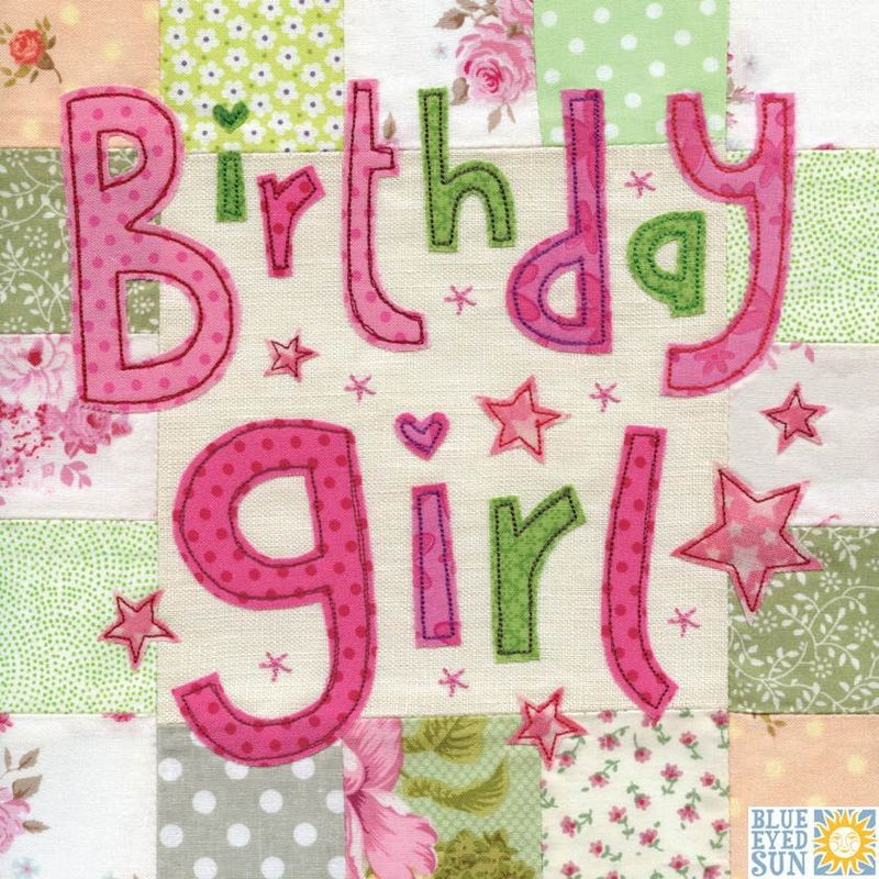 Stars Birthday Girl Card - Large, luxury birthday card - product images