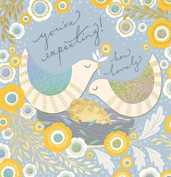 Birds You're Expecting Happy Pregnancy Card - product images  of