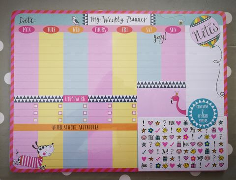 Rachel,Ellen,Dog,And,Balloon,Weekly,Desk,Planner,buy dog and balloon childs desk planner online, buy girls desk planner for school homework online, buy pretty desk planners with dogs flamingo balloons for girls online, buy desk planner for homework online