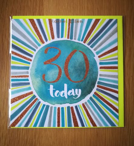 Stripes,30,Today,Birthday,Card,buy 30th birthday cards online for him her unisex, buy thirtieth birthday cards online, buy age 30 birthday cards with stripes online, buy male age thirty birthday cards online, age 30 birthday cards