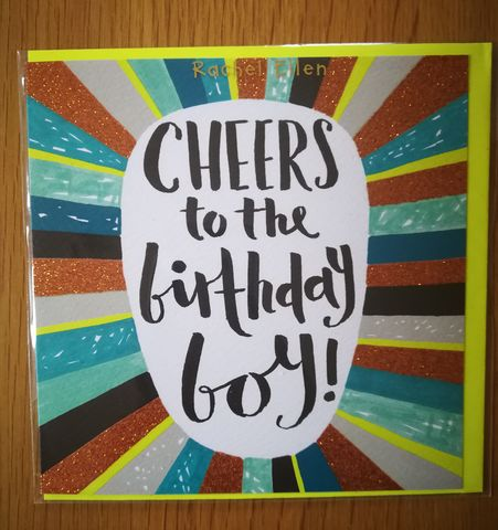 Cheers,To,The,Birthday,Boy,Card,buy birthday boy birthday cards online, buy cheers to the birthday boy mens birthday cards online, buy male birthday cards for the birthday boy online, buy birthday cards for him online,