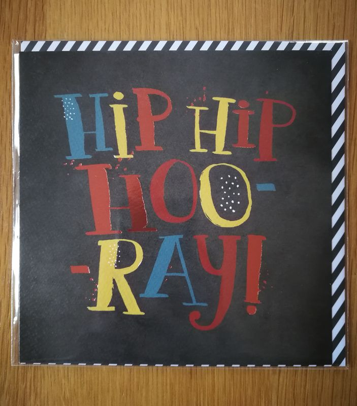 Hip Hip Hooray Happy Birthday Card - product images  of