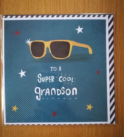 Super,Cool,Grandson,Birthday,Card,buy happy birthday cards for grandsons online with sunglasses online, buy happy birthday grandson cards online, buy grandson birthday cards online from grandparents grandparent grandma grandad gran nan grandpa, birthday cards for grandchildren grandchild