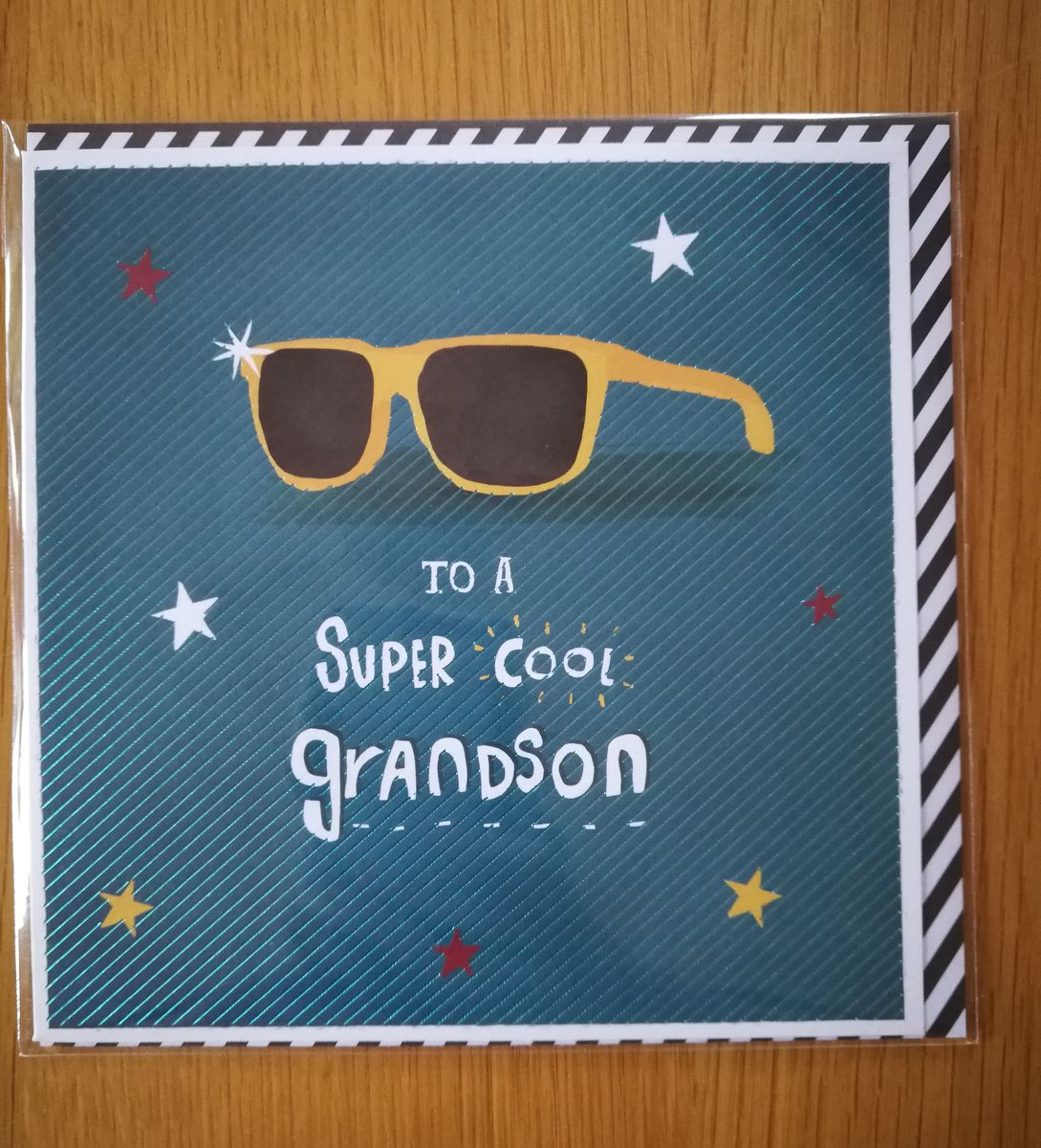 Super Cool Grandson Birthday Card