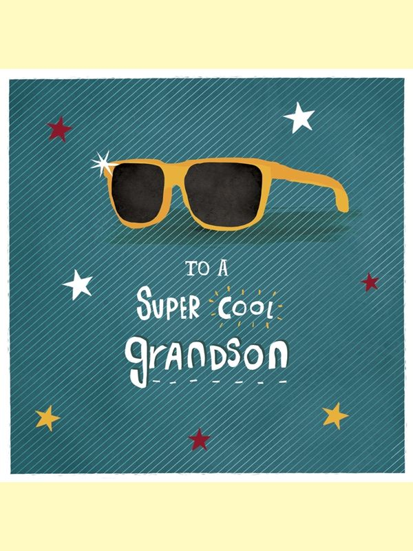 Super Cool Grandson Birthday Card - product images  of