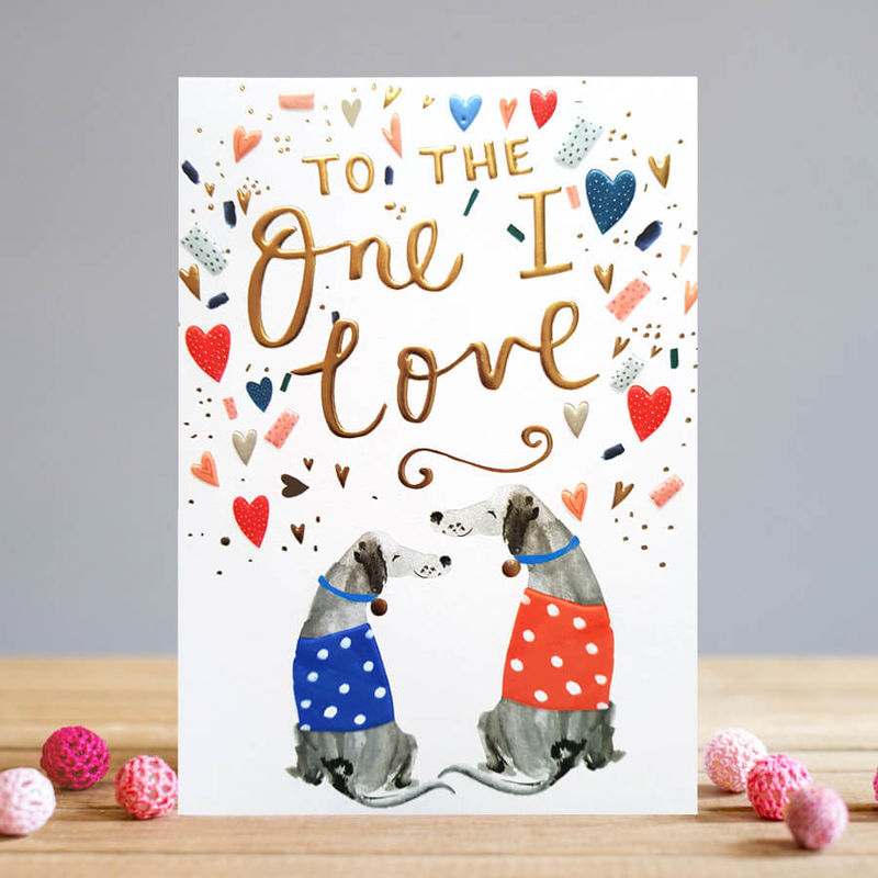 Dogs To The One I Love Valentine's Day Card - product images