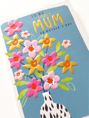 Floral,To,My,Lovely,Mum,On,Mother's,Day,Card,buy mothers day cards online with flowerss, buy lovely mum mothers day cards online, buy mothers day cards for special mum online, buy flowers mothering sunday cards online, buy to my lovely mum mothers day card online from son daughter