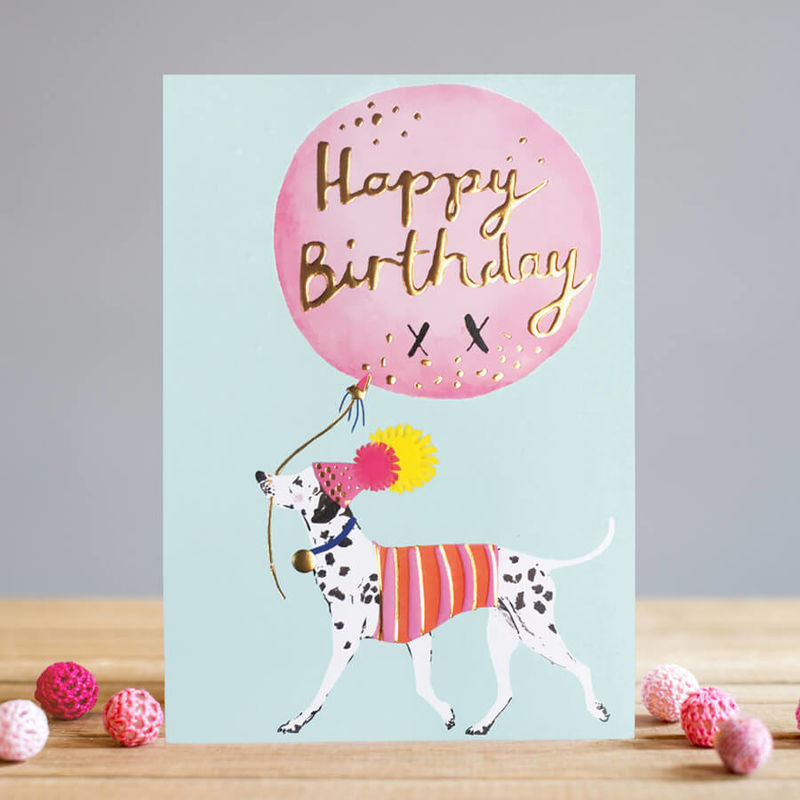 Dalmatian & Balloon Happy Birthday Card - product images