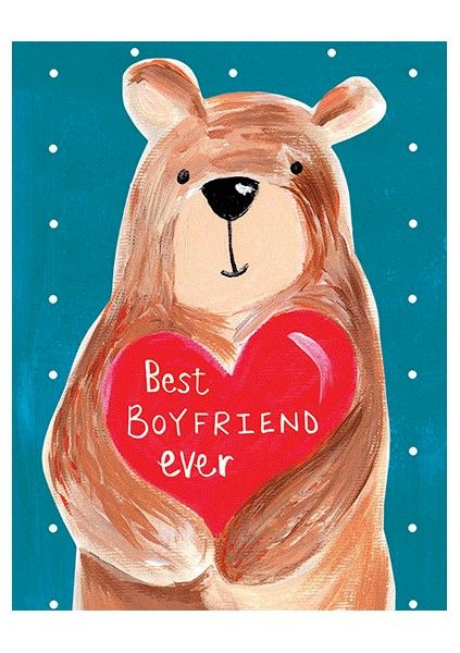 Bear & Heart Best Boyfriend Ever Card - product images