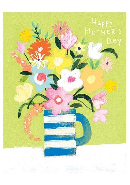 Vase Of Flowers Happy Mother's Day Card - product images