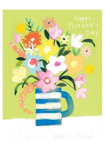 Vase,Of,Flowers,Happy,Mother's,Day,Card,buy mother's day cards online with flowers, buy pretty happy mothers day cards online for mum mummy grandma gran nan stepmum female relations, buy pretty nature mothering sunday cards with spring flowers online, buy mothers day cards with bot