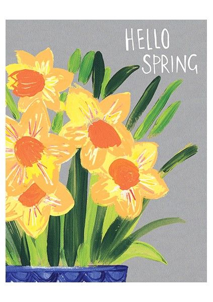Daffodils Hello Spring Card - product images