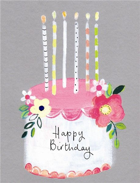 Birthday Cake & Candles Happy Birthday Card - product images