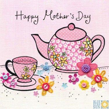 Pink Teacup & Teapot Happy Mother's Day Card - product images