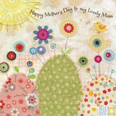 Bird,&,Flowers,To,My,Lovely,Mum,Mother's,Day,Card,buy bird and flowers mothers day card for mum online, buy lovely mothering sunday card online, buy with love on mothers day cards with garden trees fowers nature, mothers day card for mum mums from daughter son child
