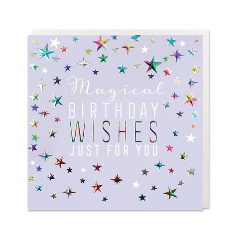 Stars,Magical,Birthday,Wishes,Card,buy magical birthday card online, buy birthday cards with magical stars online, buy sparking stars birthday cards for her online, buy magical birthday cards for girls online, buy magic birthday cards with stars