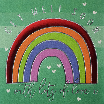 Rainbow,Get,Well,Soon,Card,buy special get well soon cards online with rainbow, buy get well cards with rainbows online, buy rainbow feel better soon card online, buy get well soon cards for her online, buy unisex get well soon cards online, buy get well soon card for child online