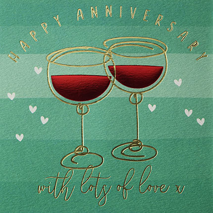 Red,Wine,Happy,Anniversary,Card,buy anniversary cards online for special couple, buy drinks fizz bubbles wine happy anniversary cards online, buy wedding anniversary cards for special couple friends family relations, red wine celebrations on wedding anniversary card, with lots of love h