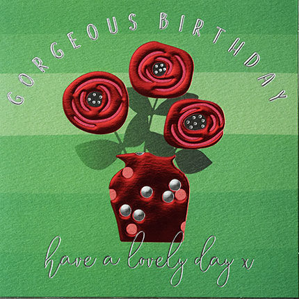 Red,Roses,In,Vase,Happy,Birthday,Card,buy beautiful birthday cards for her online, buy red roses birthday cards online, buy female birthday cards with flowers online, buy floral birthday cards for her online, buy red rose birthday cards online, buy beautiful birthday cards with flowers online