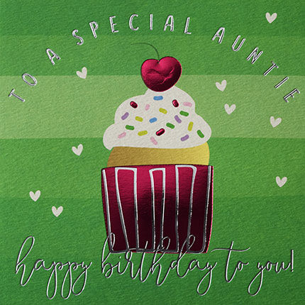 Special,Auntie,Cupcake,Happy,Birthday,Card,buy auntie birthday cards online with cake, buy pretty birthday cards for special aunties online, buy special auntie birthday card with cupcake, buy aunt aunty auntie birthday cards from niece nephew nieces and nephews,