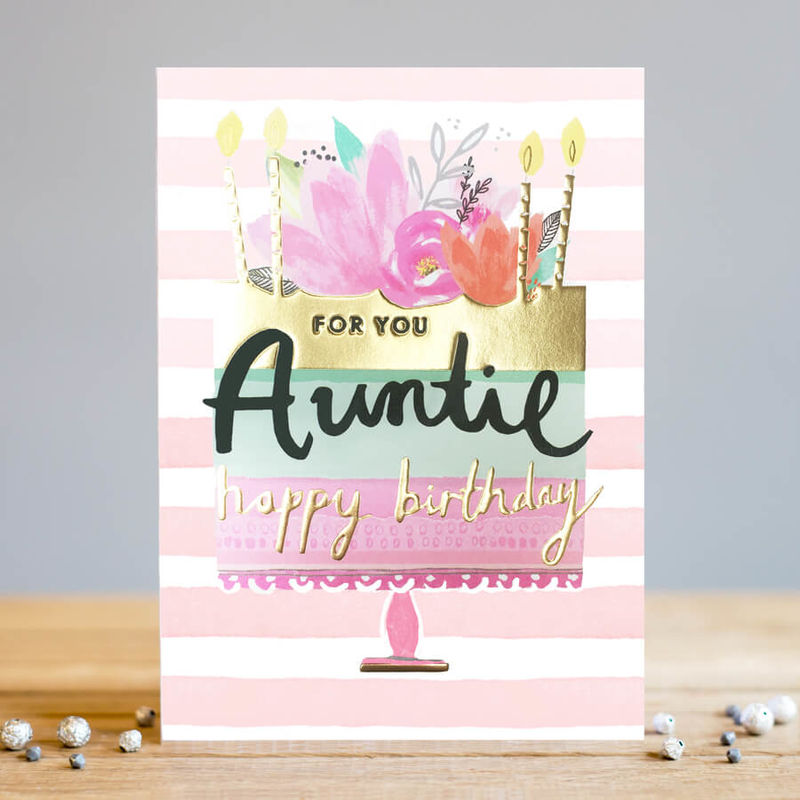 For You Auntie Birthday Cake Happy Card