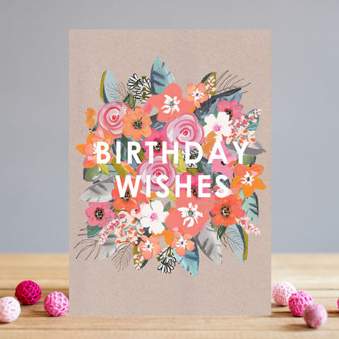 Flowers,Birthday,Wishes,Card,buy birthday cards for her online, buy pretty floral birthday cards for lady online, buy bouquet of flowers birthday wishes womens birthday card online, buy botantical birthday cards with flowers online