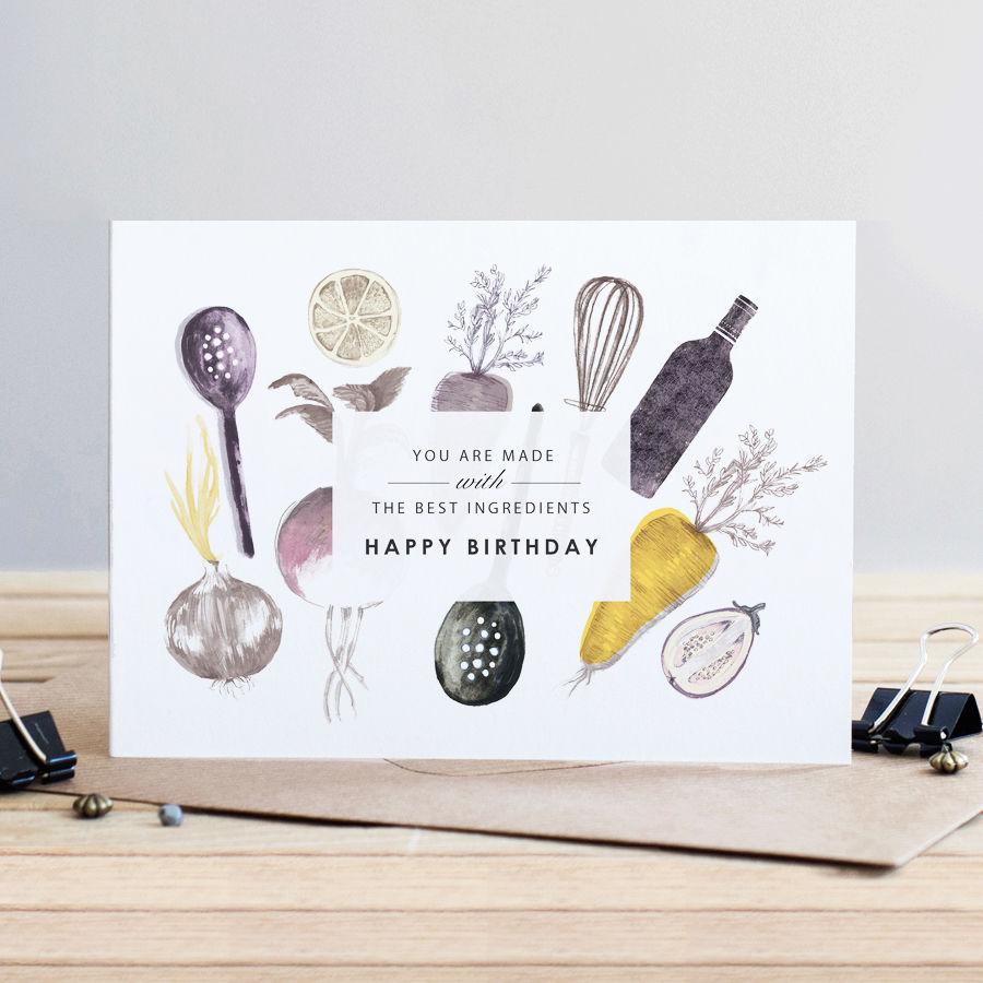Cook Best Ingredients Happy Birthday Card