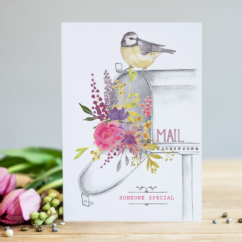 Mail Box & Bird Someone Special Card - product images