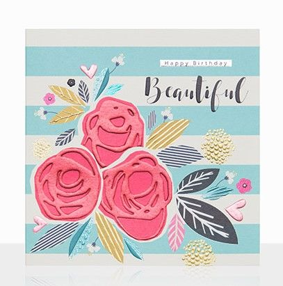 Happy Birthday Beautiful Birthday Card - product images  of