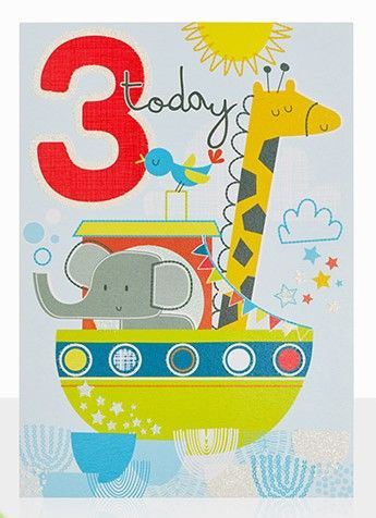 Animals,and,Boat,3rd,Birthday,Card,buy 3rd birthday cards online, buy age three birthday cards online, buy boys 3 today birthday card online, buy noahs ark childrens birthday card online, buy boat birthday cards for children online, buy age three birthday cards with animals online