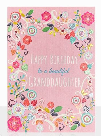 To,A,Beautiful,Granddaughter,Happy,Birthday,Card,buy birthday cards for granddaughter online, buy birthday cards for granddaughters online, buy pretty birthday card for grand-daughter online, granddaughter cards with flowers, birthday cards for grandchildren, grandchild birthday card