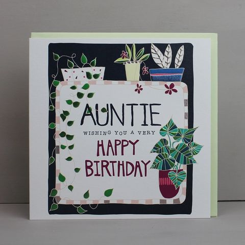 Auntie,Wishing,You,A,Very,Happy,Birthday,Card,buy pretty floral birthday card for auntie online, buy auntie birthday cards with flowers online, buy pretty botantical birthday cards for special auntie online from niece or nephew, buy aunties aunty aunt birthday cards online