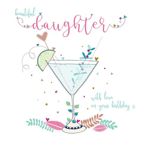 Beautiful,Daughter,Birthday,Card,-,Large,,Luxury,buy deluxe luxury birthday card for daughter online, buy large daughter birthday cards online, buy birthday drinks cocktail card for special daughter online, buy bautiful daughter birthday cards online from parents parent mum and dad, buy pretty birthday