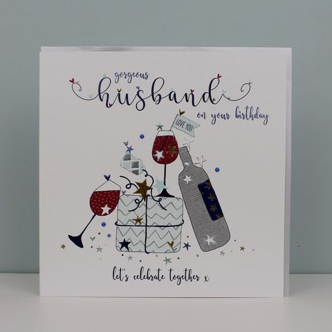 Gorgeous,Husband,Lets,Celebrate,Together,Birthday,Card,-,Large,,Luxury,buy deluxe luxury birthday card for husband online, buy large husband birthday cards online, buy birthday drinks wine card for special husband online, buy lets celebrate together birthday cards for husband online from wife husband, buy birthday present an