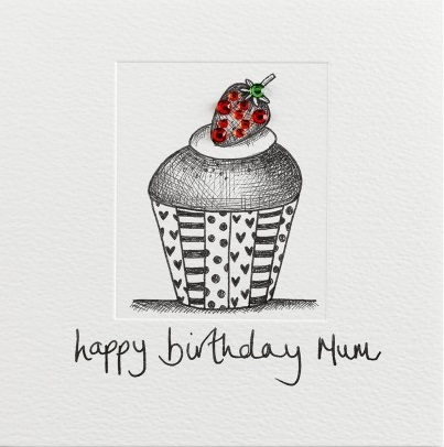 buy mum birthday card online at karenza paperie pretty cale strawberry cupcake birthday card for special mum