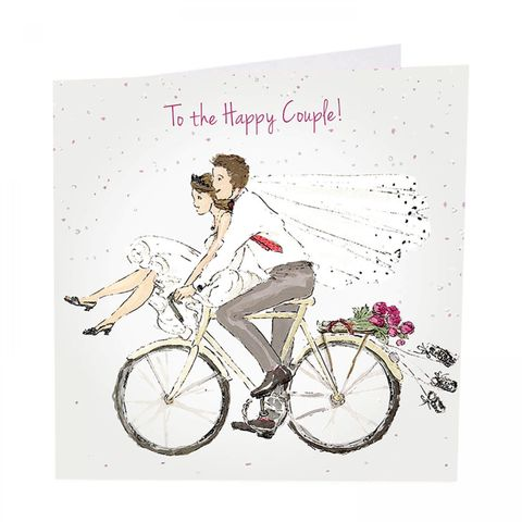 To,The,Happy,Couple,Wedding,Day,Card,buy to the happy couple wedding card online, buy bride and groom wedding cards online, buy mr and mrs wedding cards online with bride groom bicycle, buy lovely wedding day cards online for special couple relations family friends,