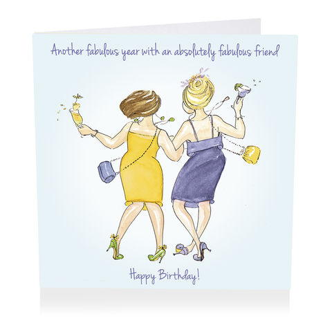 Absolutely Fabulous Friend Happy Birthday Card