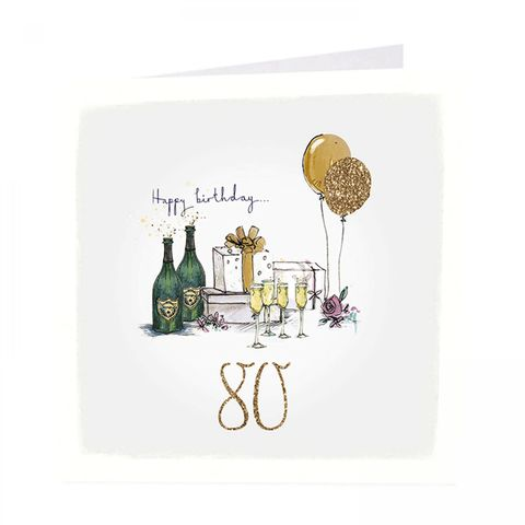 Birthday,Presents,80th,Happy,Card,buy 80th birthday card online, buy presents drinks champagne balloons age 80 cards online, buy unisex for him her age eighty cards online, eightieth birthday cards, age eighty cards