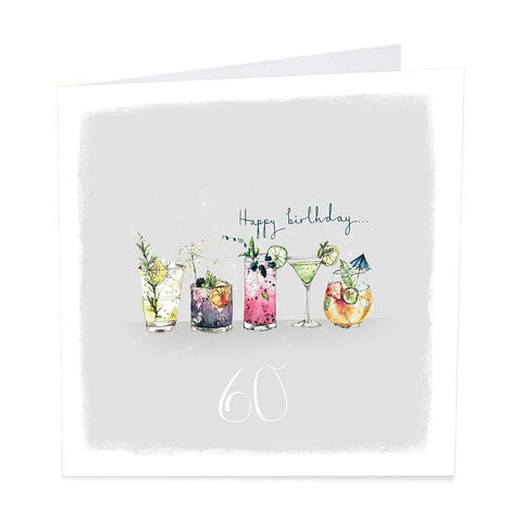 Birthday,Cocktails,60th,Happy,Card,buy 60th birthday card online, buy birthday drinks cocktails age 60 cards online, buy for her age sixty cards online, sixtieth birthday cards, age sixty cards