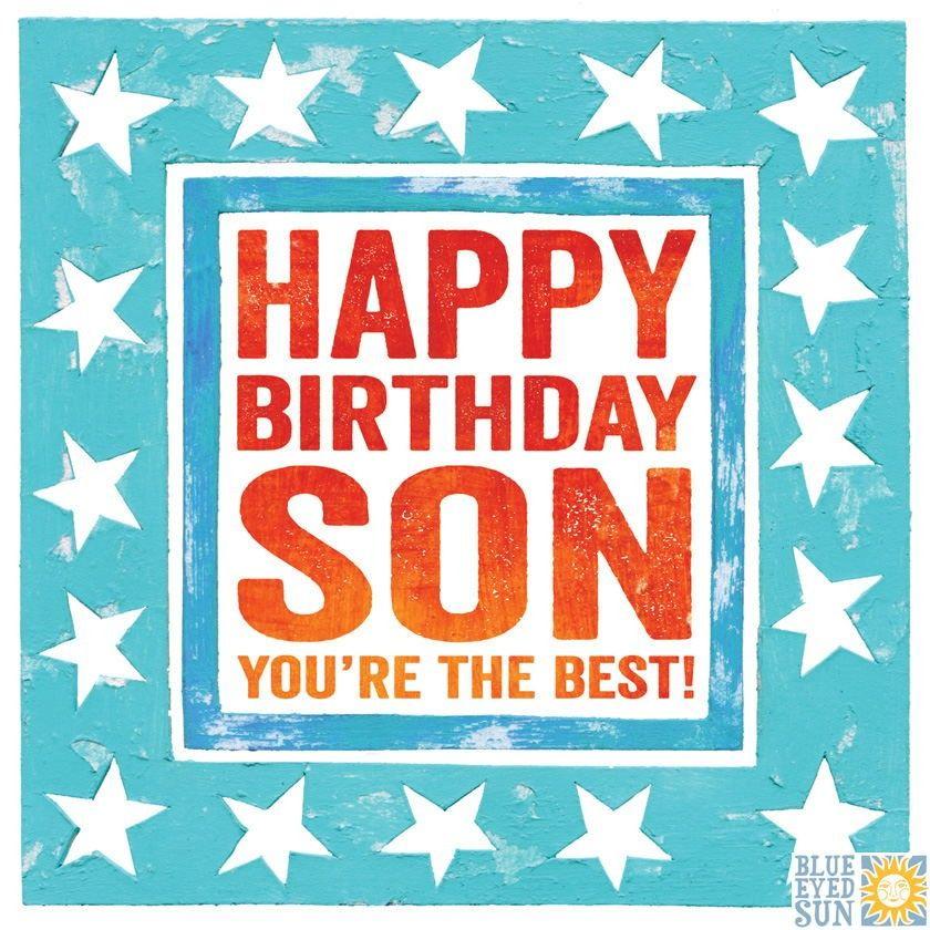 Groovy Happy Birthday Son Birthday Card Karenza Paperie Funny Birthday Cards Online Alyptdamsfinfo