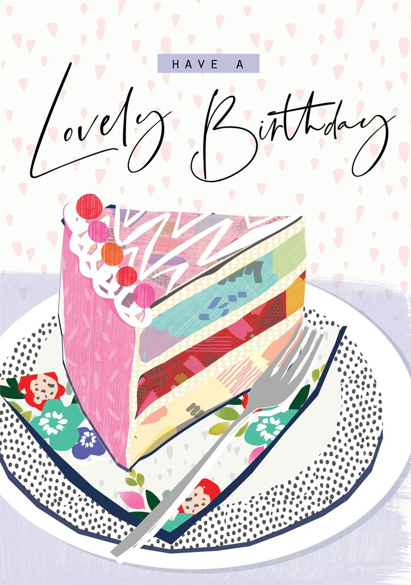 Slice Of Birthday Cake Card