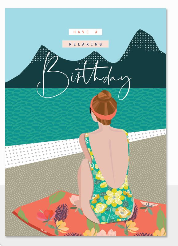Have A Relaxing Birthday Card - product images  of