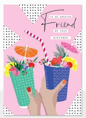 To,An,Amazing,Friend,Birthday,Cocktails,Card,buy friend birthday cards for her online, buy birthday drinks birthday card for amazing friend online, buy birthday cards for best friends online, buy special friend birthday card with birthday cocktails online, summer birthay cards for best friends