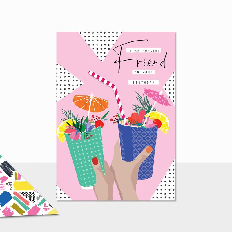 To An Amazing Friend Birthday Cocktails Birthday Card - product images  of