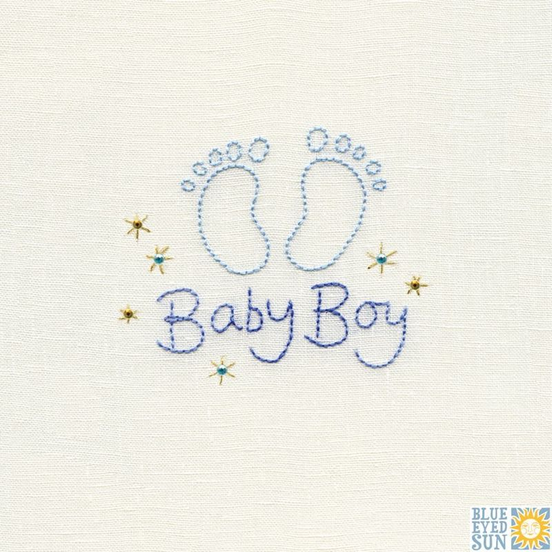 Footprints Baby Boy Card - product images
