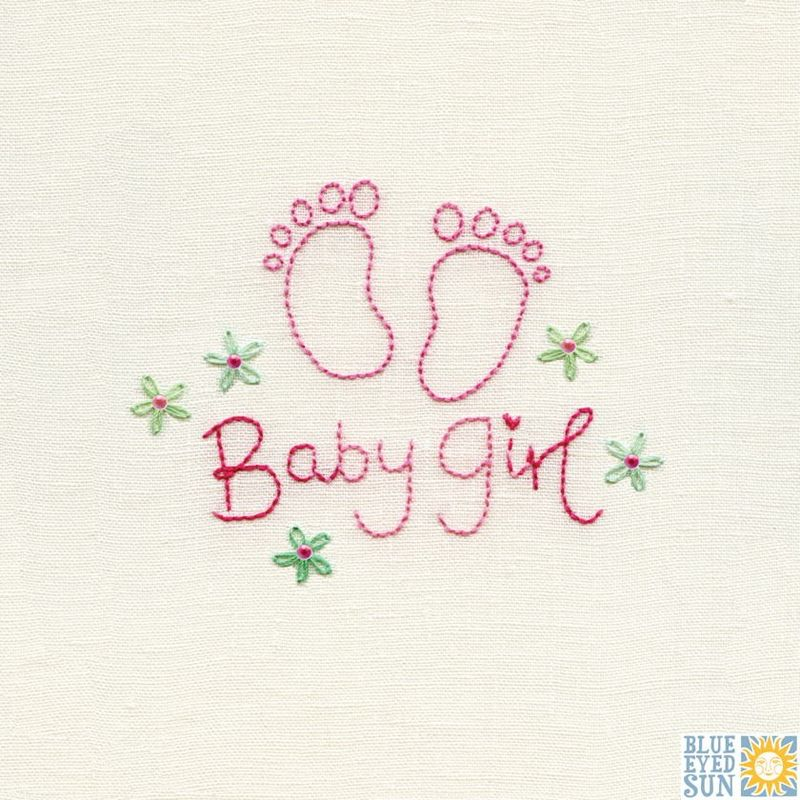 Footprints Baby Girl Card - product images