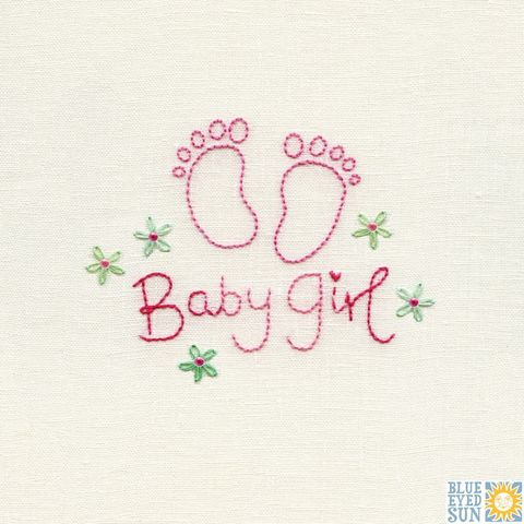 Footprints,Baby,Girl,Card,buy baby girl card online, buy cards for new babies online, new baby card, buy welcome to the world new baby card online, buy footprints new baby cards online