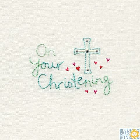 Cross,&,Hearts,Christening,Card,buy baby girl christening card online, buy christening cards for new babies online, new baby christening card, buycon Your christening day  card online, buy footprints new baby cards online