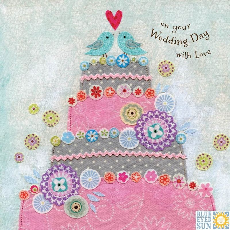 Birds & Wedding Cake Wedding Day Card - product images