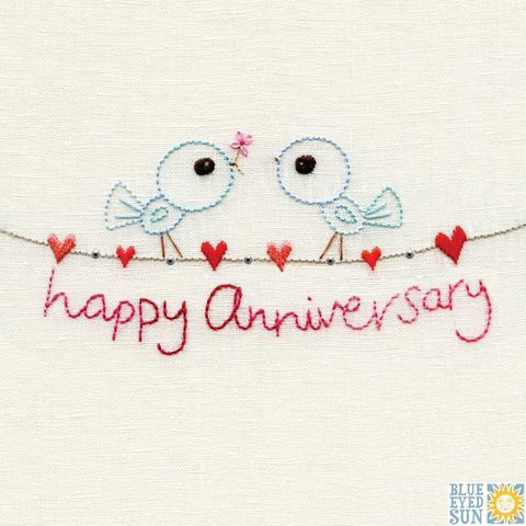 Birds,&,Bunting,Happy,Anniversary,Card,buy bird anniversary card online, buy bird wedding anniversary cards online, buy wedding anniversary cards online, buy butterfly birthday cards for her online, buy birthday cards with butterflies online, buy summer birthday cards for her online,female bir